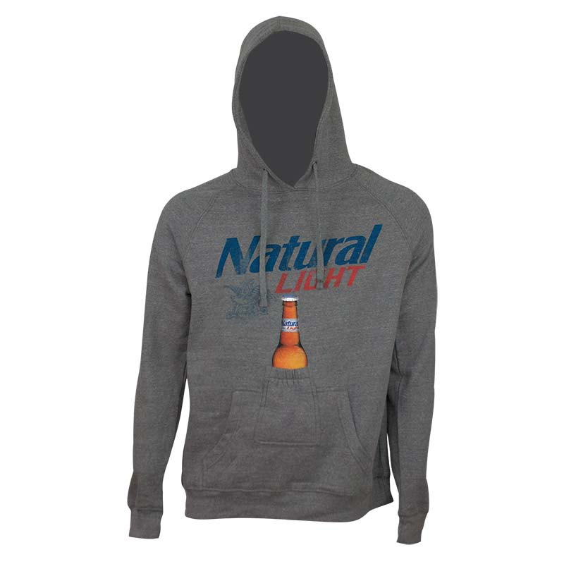 Natural Light Grey Beer Pouch Hoodie