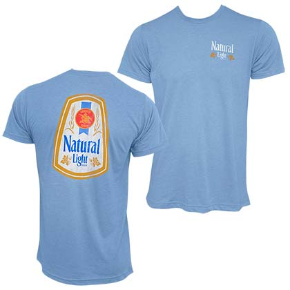 Natural Light Two Sided Men's Light Blue T-Shirt