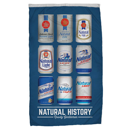 Natural Light Rowdy Gentlemen History Flag