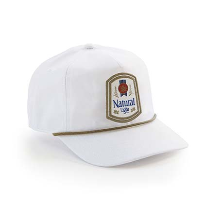 83b41db2f3c03 Natty Light Rowdy Gentleman Vintage Logo White Snapback Hat