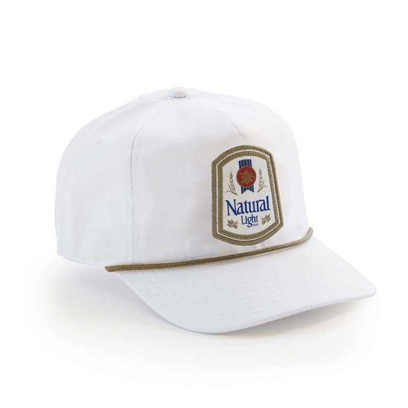 8c6bfa77a7d Natty Light Rowdy Gentleman White Retro Logo Snapback Hat