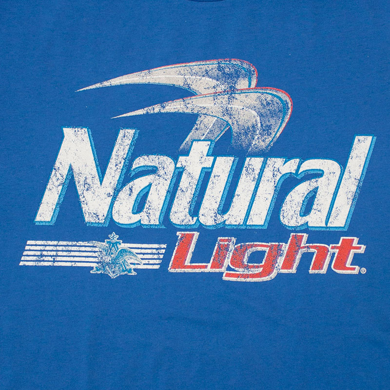 Natural Light Blue Beer Logo Tee Shirt