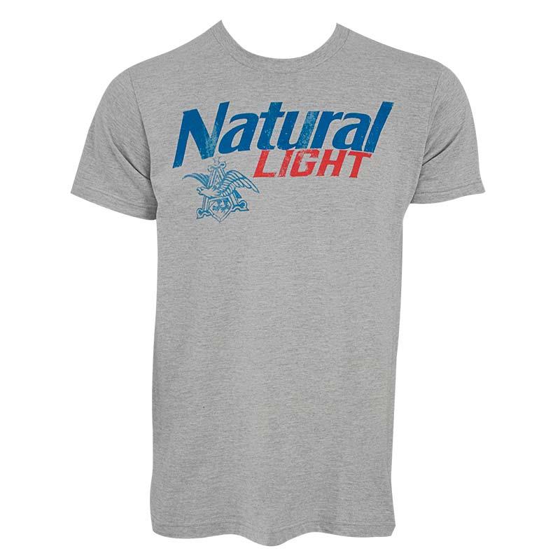 Natural Light Men's Grey New Logo T-Shirt