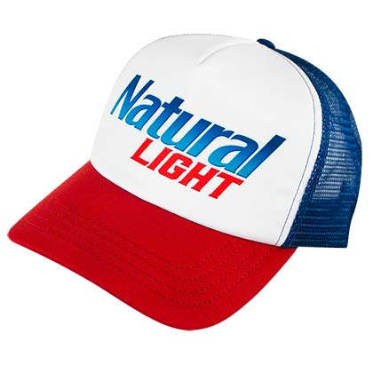Natural Light Patriotic Colors Men s Trucker Hat 5440f4579b91