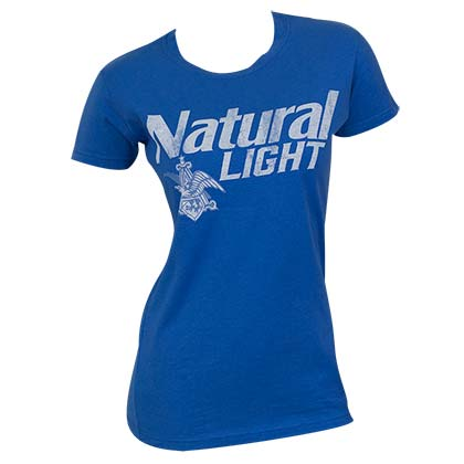 Natural Light Women's Blue Vintage T-Shirt