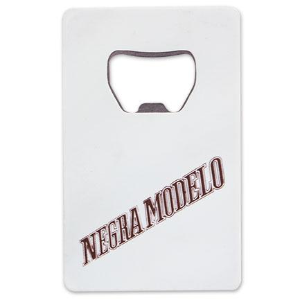 negro modela white credit card bottle opener. Black Bedroom Furniture Sets. Home Design Ideas