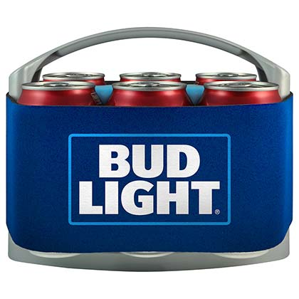 Bud Light Blue Six Pack Cooler