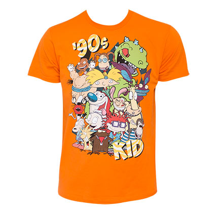 Nickelodeon Men's Orange 90's Kid T-Shirt