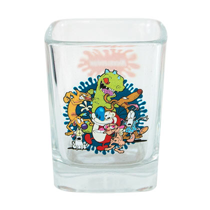 Nickelodeon 90's Character Square Shot Glass