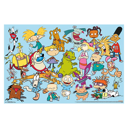 Nickelodeon Nicktoons 90s Characters 23x34in Poster