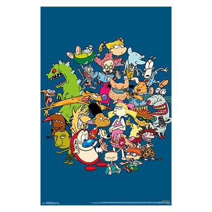 Nicktoons Nickelodeon Characters Poster