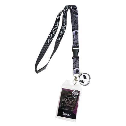 Nightmare Before Christmas Black Lanyard