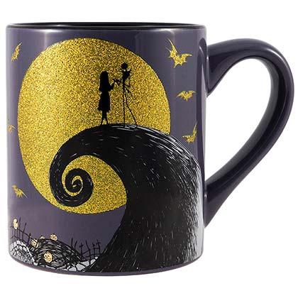 Nightmare Before Christmas Jack Sally Glitter 14oz Mug
