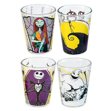 Nightmare Before Christmas Shot Glass 4-Pack