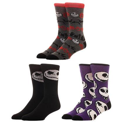 Nightmare Before Christmas 3 Pack Men's Crew Socks