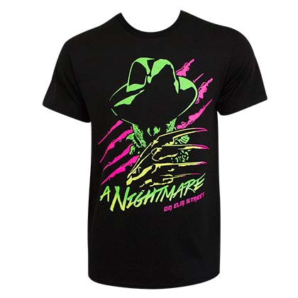 Nightmare On Elm Street Freddy Neon Men's TShirt