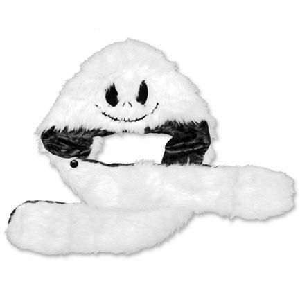 Nightmare Before Christmas Fur Hood - White