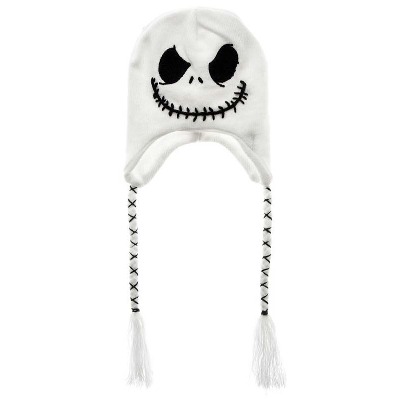 Nightmare Before Christmas White Jack Laplander Winter Hat