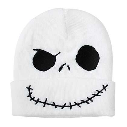 Nightmare Before Christmas White Jack Cuff Winter Hat