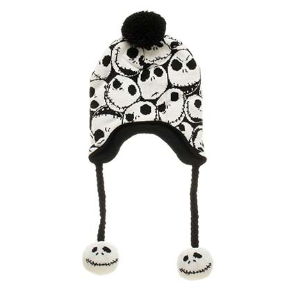 Nightmare Before Christmas Repeating Jack Print Laplander Hat