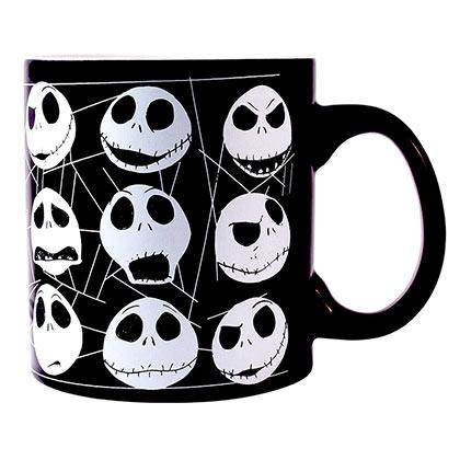 Nightmare Before Christmas Black Glow In The Dark Jack Mug