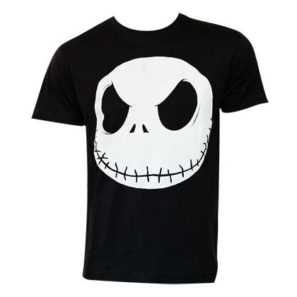 Nightmare Before Christmas Men's Black Glow In The Dark T-Shirt
