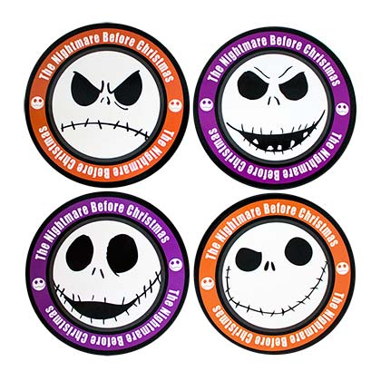 Nightmare Before Christmas Jack Coaster Set