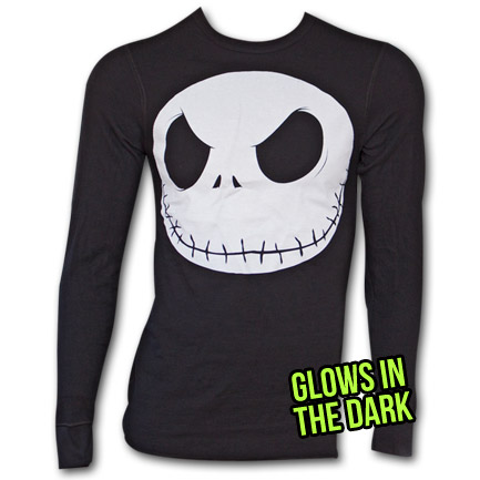 Nightmare Before Xmas Skull Thermal - Black
