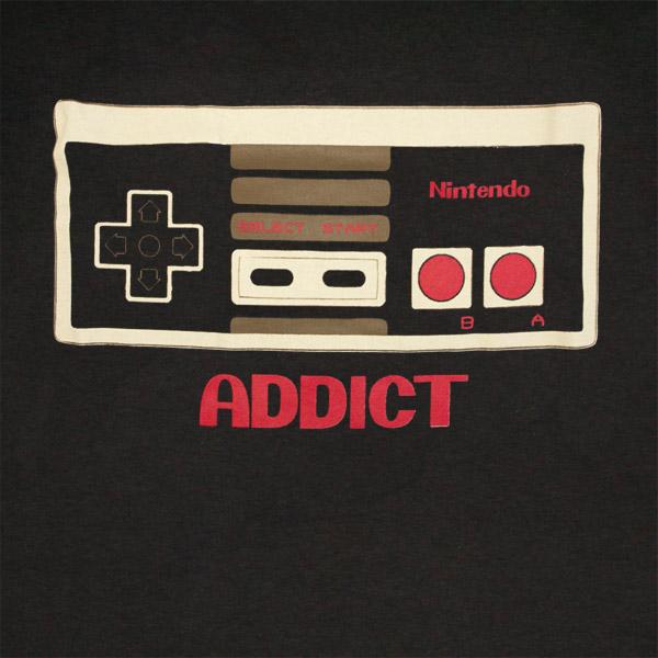 Nintendo Controller Addict T Shirt - Black