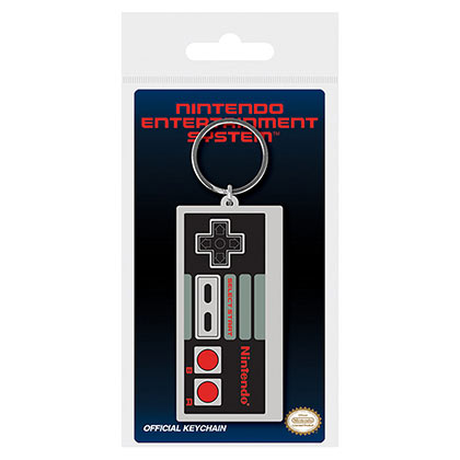 Nintendo Classic NES Controller Rubber Keychain