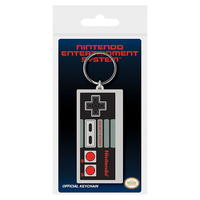 Nintendo Classic NES Controller Gray Rubber Keychain