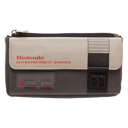 Nintendo Classic NES Grey Flap Wallet
