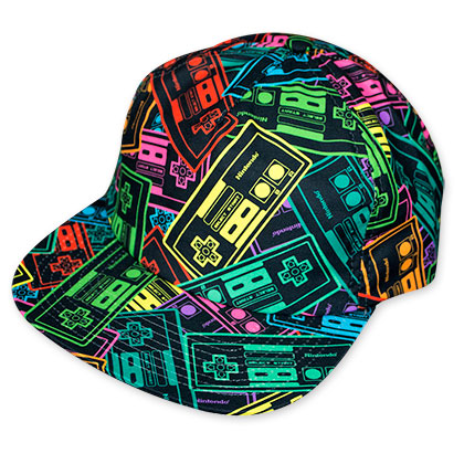 Nintendo All Over Neon Controller Print Hat