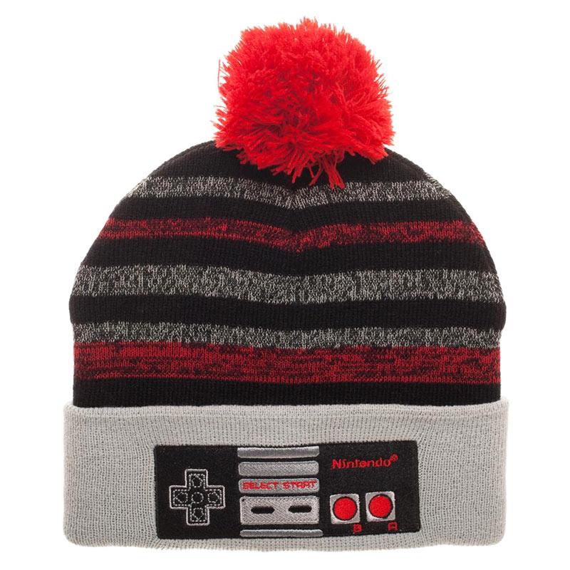 f402b1ec2d8 Nintendo Winter NES Controller Pom Beanie