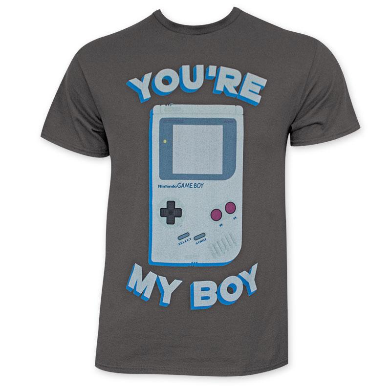 Nintendo Men's You're My Boy Gray Tee Shirt