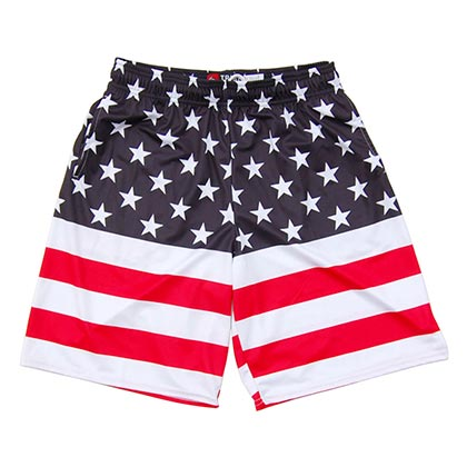 American Flag 50/50 Lacross Shorts