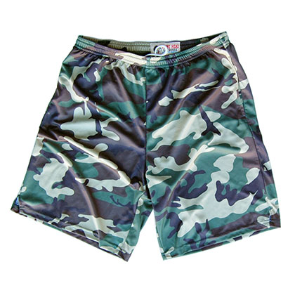 Army Men's Sublimated Camo Lacrosse Shorts