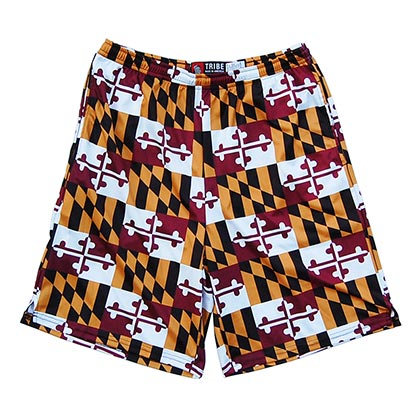 Maryland All Over Flag Print Lacrosse Sublimated Shorts