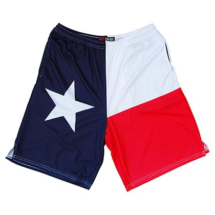 Texas Lone Star Flag Lacrosse Sublimated Shorts