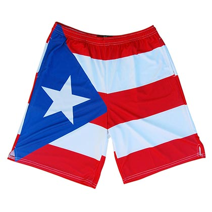 Puerto Rico Lacrosse Men's Sublimated Shorts