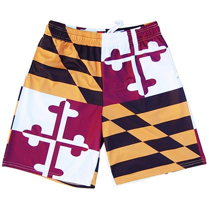 Maryland Quad Flag Lacrosse Men's Sublimated Shorts
