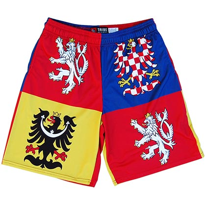 Czech Republic Sublimated Coat Of Arms Men's Lacrosse Shorts