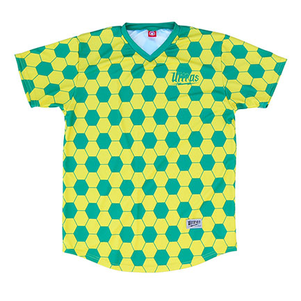 FIFA Brazil Sublimated Green And Yellow Soccer Jersey