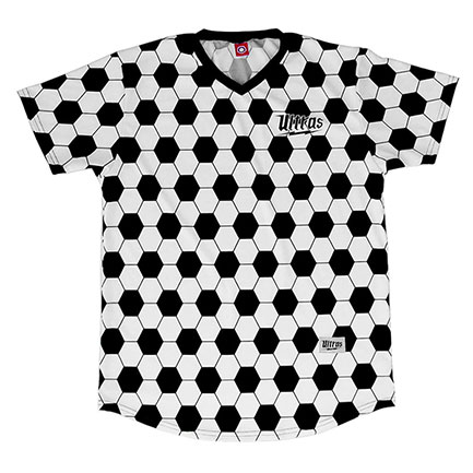 FIFA Sublimated Black And White Soccer Ball Jersey