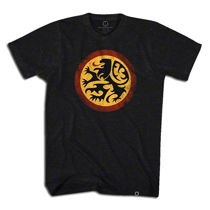Black Men's Belgium Lion Crest T-Shirt