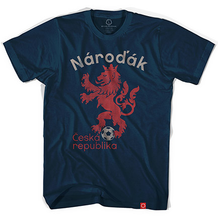 Blue Czech Republic Narodak Soccer Tee Shirt