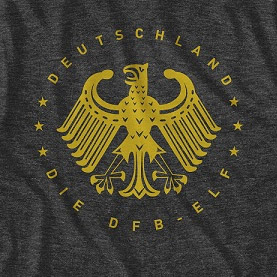 Men's Charocoal Germany Deutschland Football T-Shirt