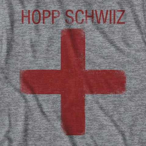 Men's Grey Hopp Schwiiz Cross Tee Shirt
