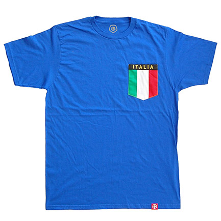 Men's Italian Flag Pocket T-Shirt