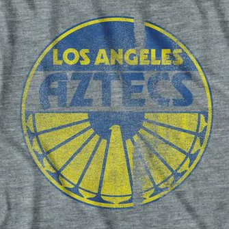 Men's Grey Los Angeles Aztecs Tee Shirt